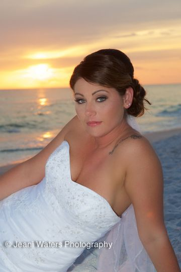 Beautiful sunset wedding in Panama City Florida!
