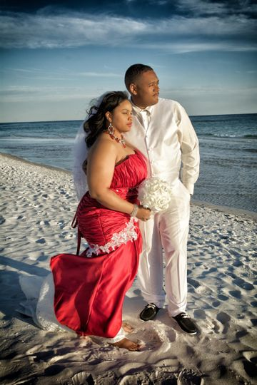 Gomez wedding in Destin Florida in January! Edited for artistic display by Jeani Waters Photography.