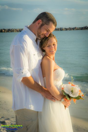 Destination Beach Wedding in Panama City Florida, St. Andrews Park.