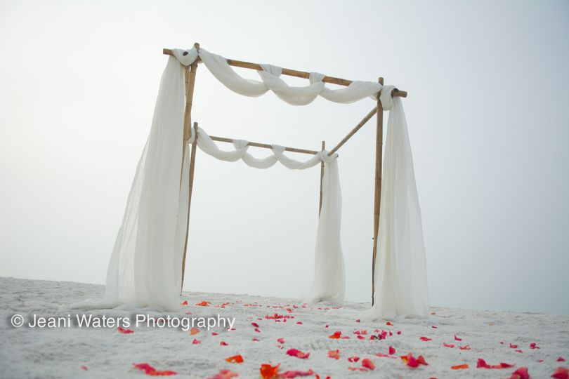 This was an early morning wedding in Pensacola Florida on a gorgeous foggy beach...how romantic!...