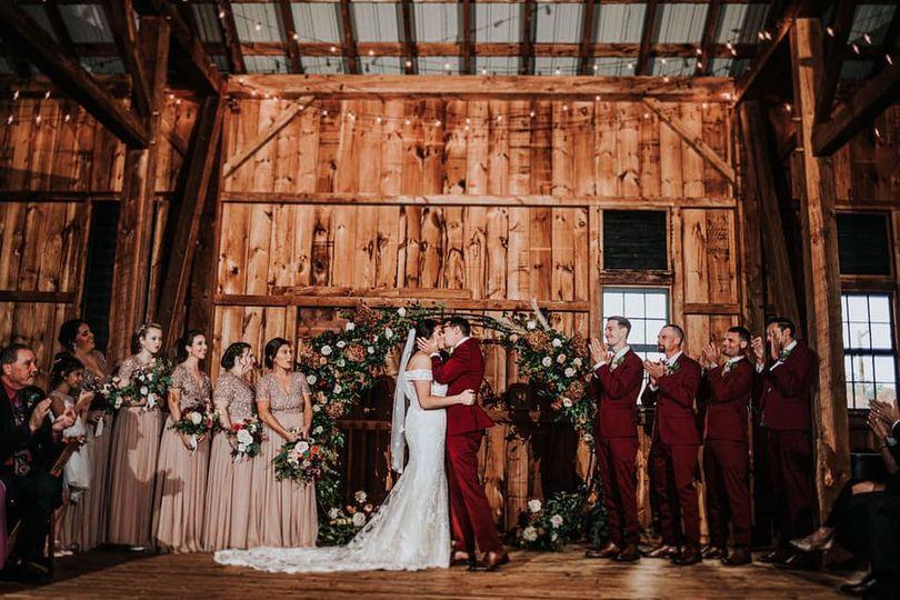 Beautiful Barn Ceremony