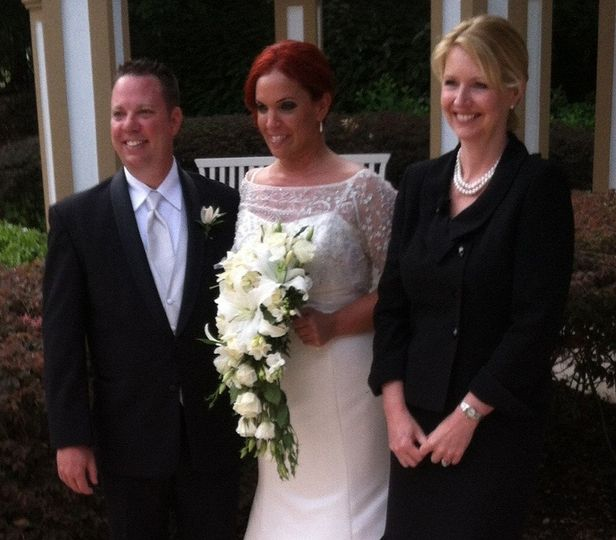 A photo with the bride