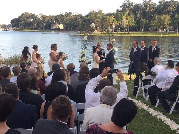 Wedding beside the lake