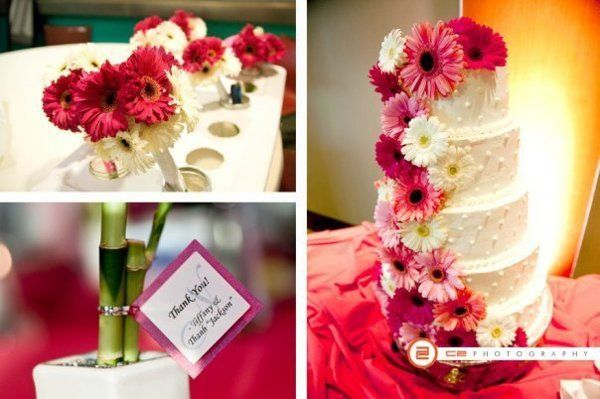 This particular wedding was featured on Hot Pink Brides!...