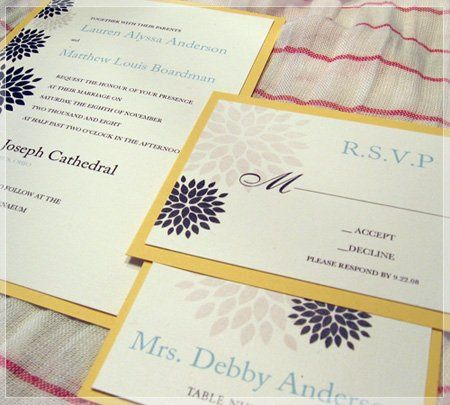 This invitation is perfect for an informal wedding. The flower pattern can be used for multiple...