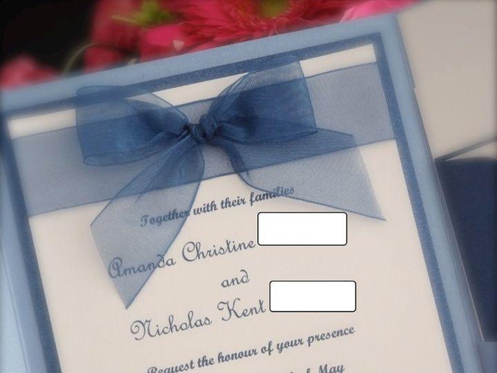 Tmx 1354060462925 8804080019blackedout Sicklerville wedding invitation