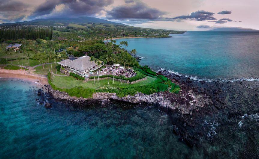 Exterior view of the Merriman's Kapalua Maui