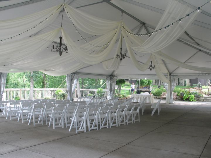 Tmx 1418312773116 Fabric And Cafe Lights Galena wedding venue