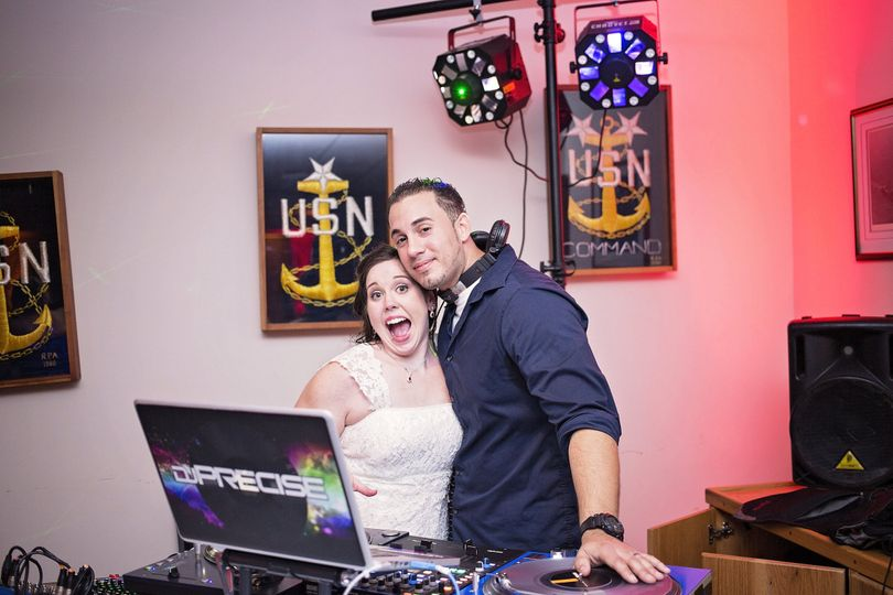 DJ with the bride