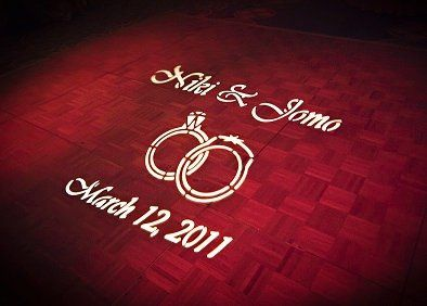 Gobo Monogram at wedding Reception at the Omni Hotel