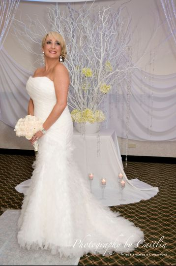 Bridal bouquet and tree