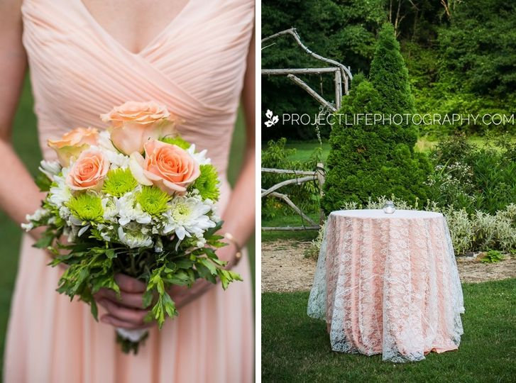 peach and lace