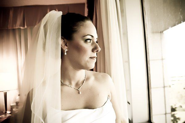 The bride before her big moment