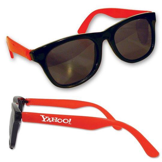 customized classic sunglasses red