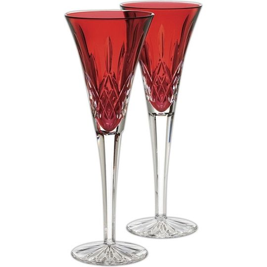 wedding red flutes