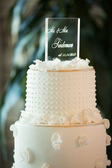 Custom acrylic lit cake topper