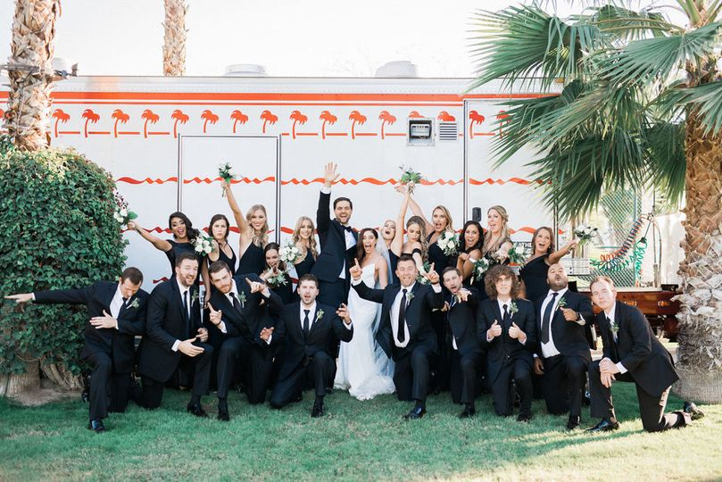 In-n-out truck, wedding venue, wedding planning, day-of, palm springs wedding, reception
