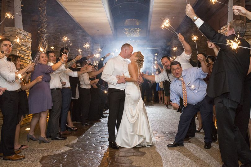 Sparkler exit - desert willow palm desert wedding