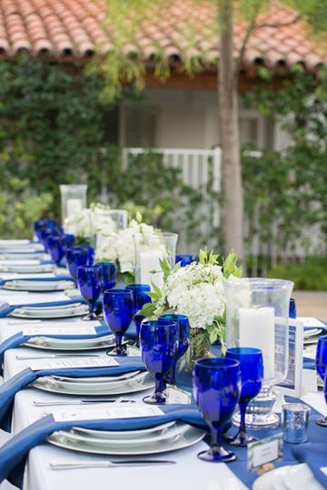 Alcazar palm springs cobalt blue wedding