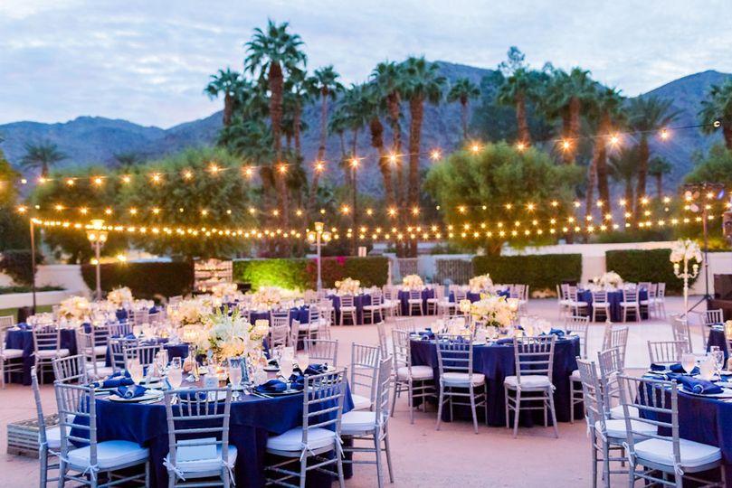 La quinta resort, blue and silver wedding