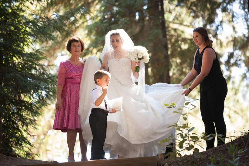 Ring bearer with the bride