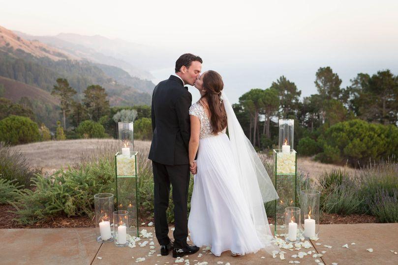 Newlyweds share a moment