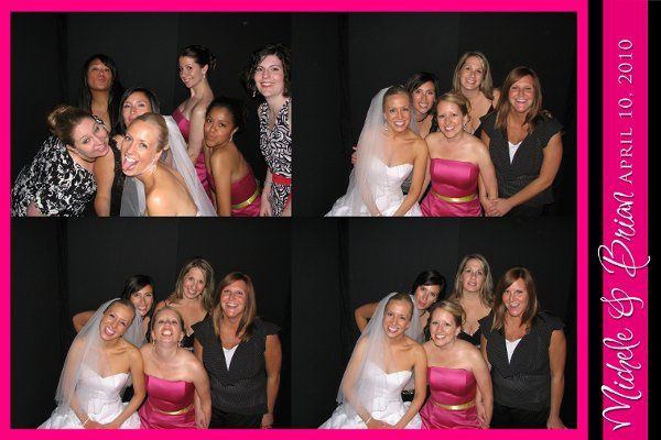 Chicago Wedding Photo Booth from Photo Booth Express - Grid Option with Custom Graphics