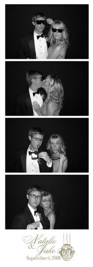 Chicago Wedding Photo Booth from Photo Booth Express - Traditional Photo Strip Option in Black and...