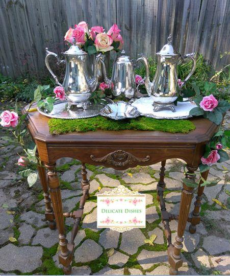 Silver tea serving pieces