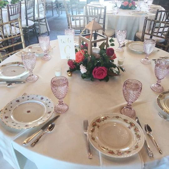 Blush Goblets & Floral China