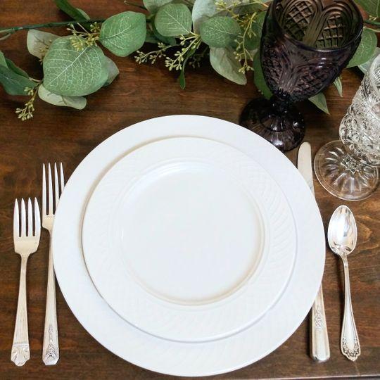Ivory Dinner & Salad Plates