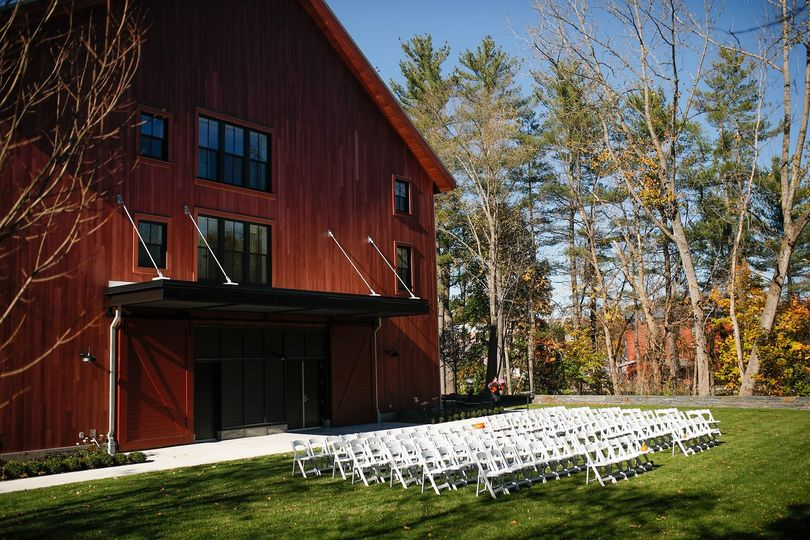 Barn Ceremony Set Up