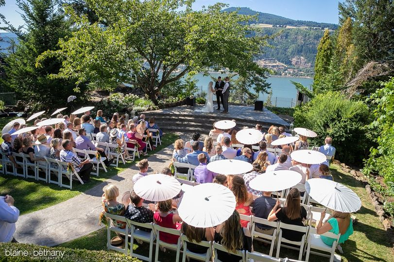 Ceremony at Columbia Gorge Hot
