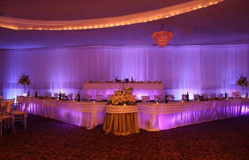 Lighted fabric wall