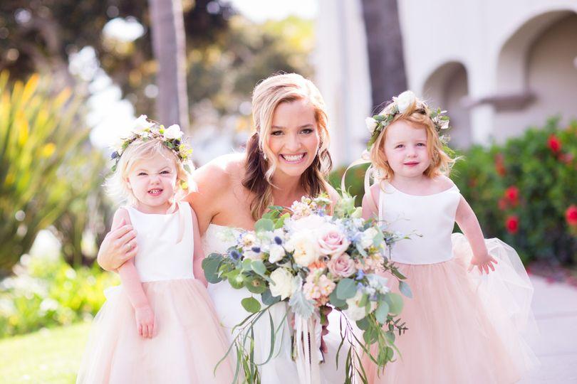 Bride + Flower Girls