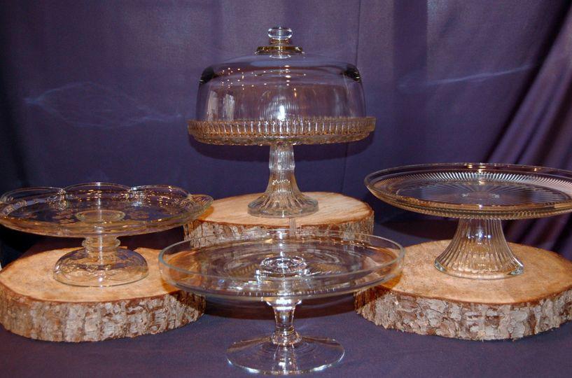 Glass dessert platform