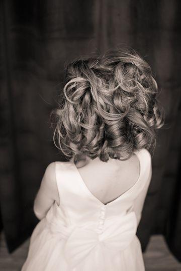 Short hair curls
