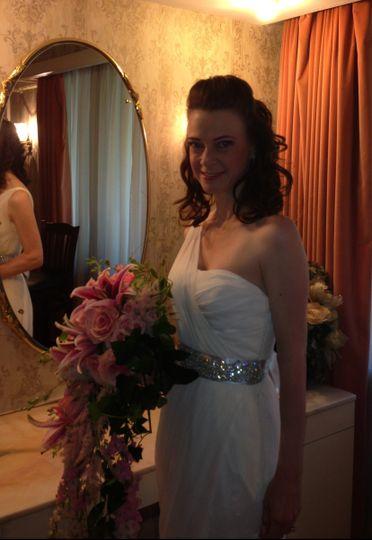 Bride in her room