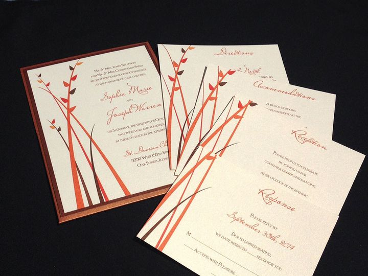 Tmx 1403883718548 Fallinvitation Oak Forest, IL wedding invitation