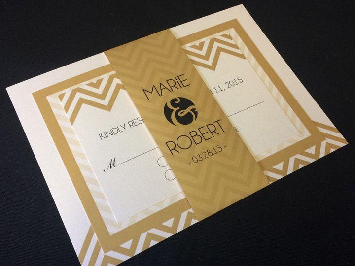 Tmx 1413566922877 Chevroninvitation Oak Forest, IL wedding invitation