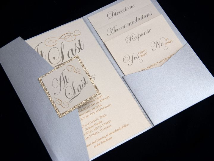 Tmx 1442944592110 Goldsilverpocket Oak Forest, IL wedding invitation