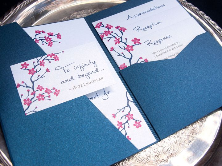 Tmx 1442945772729 Cherryblossomspocket Oak Forest, IL wedding invitation