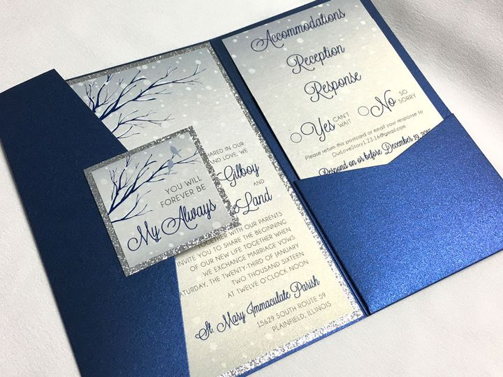 Tmx 1446745799971 Winterpocketclosed Oak Forest, IL wedding invitation