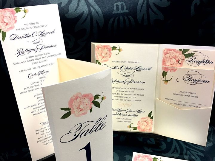 Tmx 1481654872042 Weddingensemble1 Oak Forest, IL wedding invitation