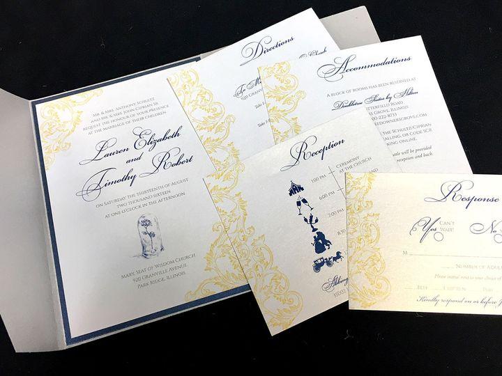 Tmx 1481655180308 Beautyandthebeast1 Oak Forest, IL wedding invitation