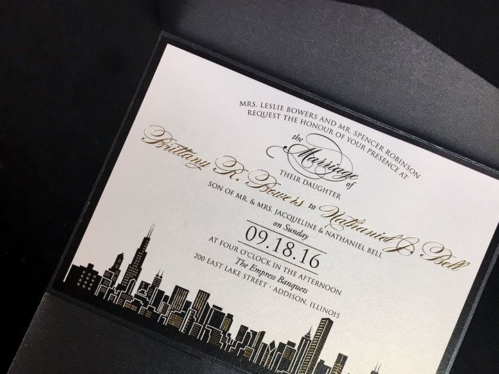 Tmx 1481656092067 Cityfoilinvitation Oak Forest, IL wedding invitation