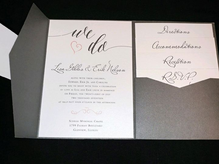 Tmx 1501017479738 Lisa Gibbs Oak Forest, IL wedding invitation