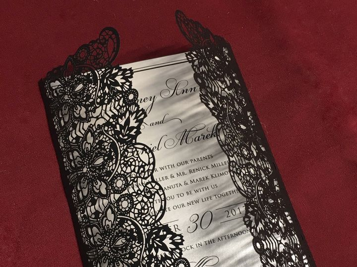 Tmx 1503605874842 Black Laser Oak Forest, IL wedding invitation