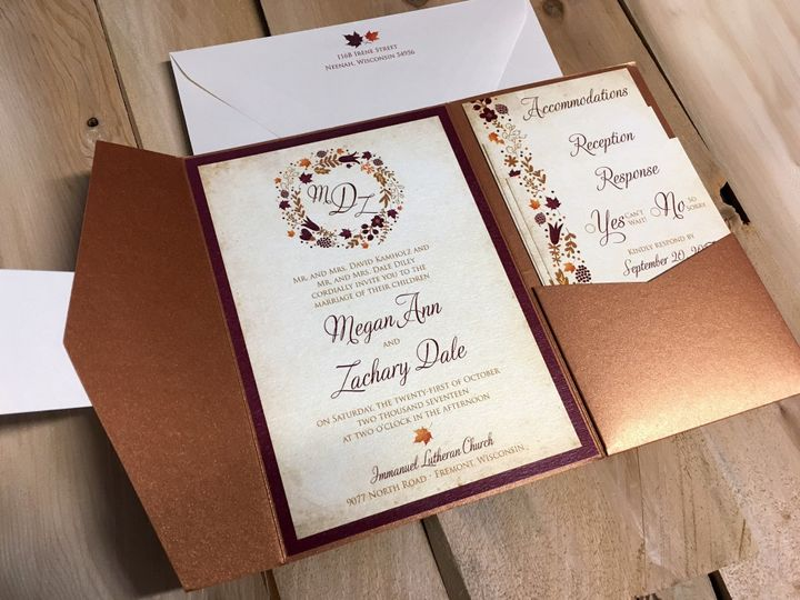Tmx 1503606044275 Copper Pocket Oak Forest, IL wedding invitation