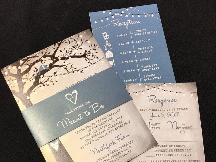 Tmx 1503606053892 Meant To Be Invite Oak Forest, IL wedding invitation